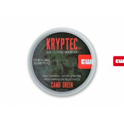 KRYPTEC  Coated Hooklink soft 35lb Növényzet 20m Bevonatos Előke Zsinór