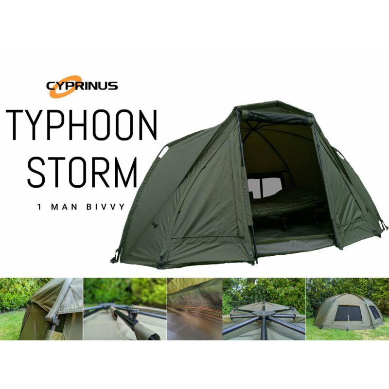 Cyprinus Typhoon Strom 1 Man Bivvy Sátor  Zöld